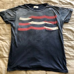 Sol Angeles Red, White and Blue waves tee.